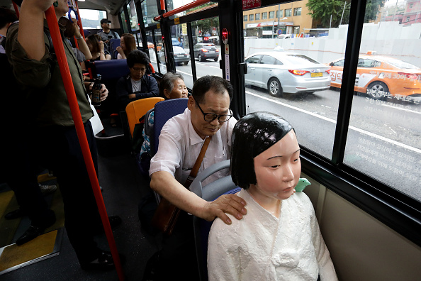 South Korea「Seoul Bus Runs With 'Comfort Woman' Sex Slave Statue Ahead Of Liberation Day」:写真・画像(14)[壁紙.com]