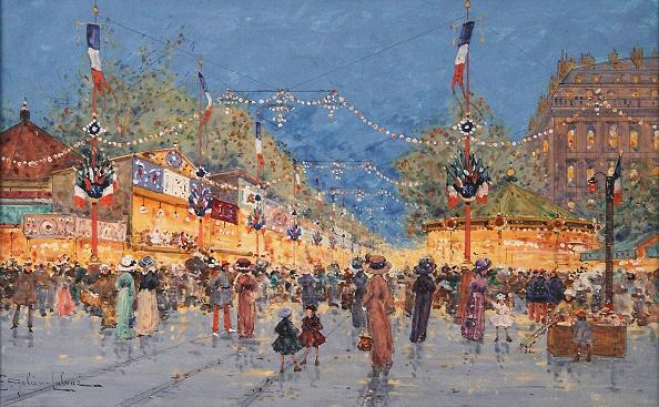 Lithograph「Foire aux Pains d'Epices Place de la Nation, c 1930 Artist: Galien-Laloue, Eugene (1854-1941)」:写真・画像(17)[壁紙.com]