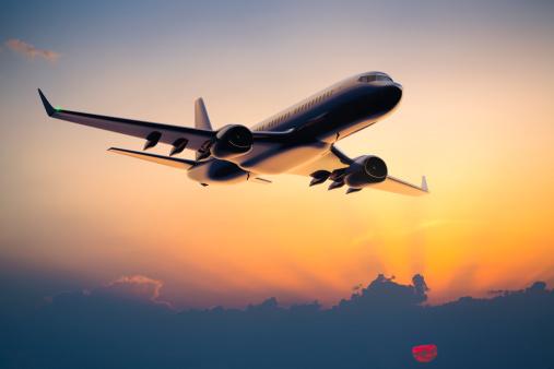 Aircraft「Night flight of a passenger jet airplane」:スマホ壁紙(17)