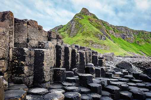 Volcanic Landscape「Giants Causeway Hexagonal Rock Formation Northern Ireland」:スマホ壁紙(17)