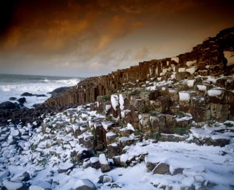 Basalt「Giant's Causeway, County Antrim, Ireland, Basalt Columns」:スマホ壁紙(5)