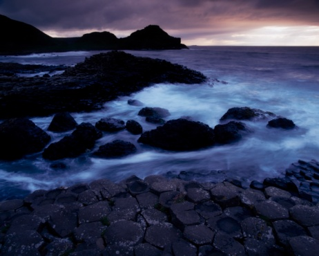 Basalt「Giant's Causeway, County Antrim, Ireland, Basalt Columns」:スマホ壁紙(8)