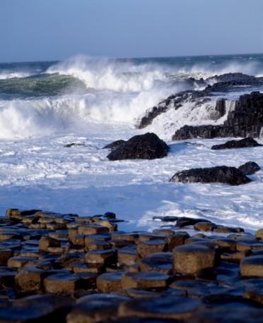 Basalt「Giant's Causeway, County Antrim, Ireland, Basalt Columns」:スマホ壁紙(14)