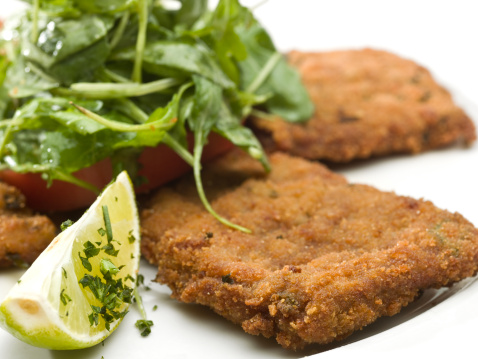 Breaded Chicken「Veal Milanese with Salad」:スマホ壁紙(6)