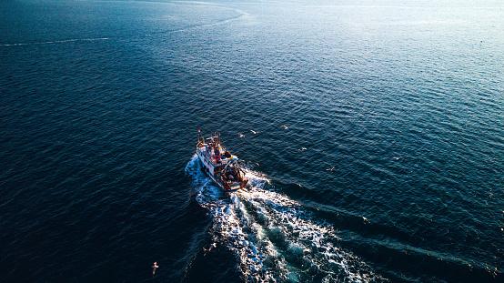アドリア海「漁船が港に戻ってくる」:スマホ壁紙(9)