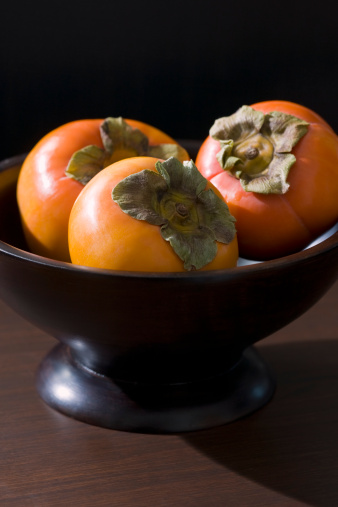 柿「Fuyu Persimmons in Bowl」:スマホ壁紙(7)