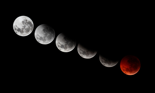 Winter Solstice「A composite image showing different stages of the 2010 solstice total moon eclipse.」:スマホ壁紙(19)
