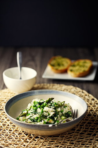 Asparagus「Vegan asparagus,spinach garden pea risotto」:スマホ壁紙(5)