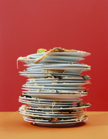 Plate「Stack of dirty dishes」:スマホ壁紙(0)
