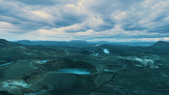 Lava「Crater lake and geothermal power station」:スマホ壁紙(14)