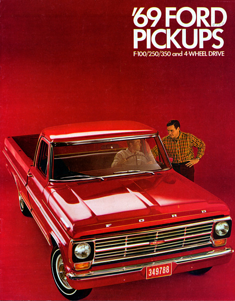 Truck「1969 Ford F-100 pick up truck brochure」:写真・画像(8)[壁紙.com]