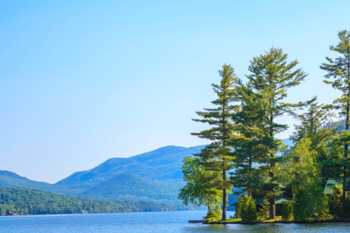 Adirondack Mountains「morning light on Lake Placid」:スマホ壁紙(2)