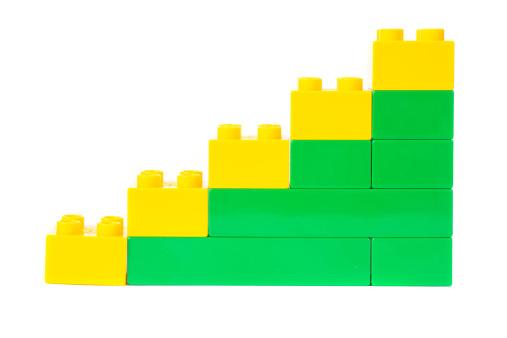 Vector「おもちゃのキューブ成功グラフ、図」:スマホ壁紙(16)