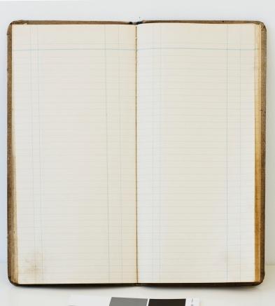 Accountancy「Blank open ledger book」:スマホ壁紙(10)