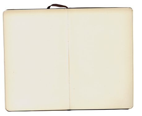 Sepia Toned「A blank, open notebook with a white border background」:スマホ壁紙(0)