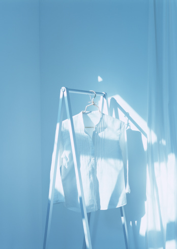 Light Blue「Shirt on hanger」:スマホ壁紙(11)