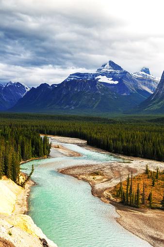 Athabasca River「Athabasca River, Jasper National Park, Alberta,Canada」:スマホ壁紙(2)