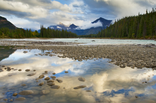 Athabasca River「Athabasca River, Jasper National Park Alberta」:スマホ壁紙(15)