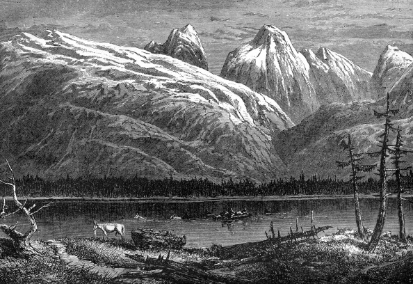 アサバスカ川「Athabasca River, Canada, 19th century. Artist: Leitch」:写真・画像(1)[壁紙.com]