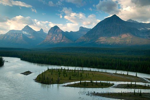 Mt Athabasca「Athabasca River and Mountains」:スマホ壁紙(1)