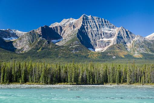 Athabasca River「Athabasca River and mountains Jasper NP」:スマホ壁紙(14)