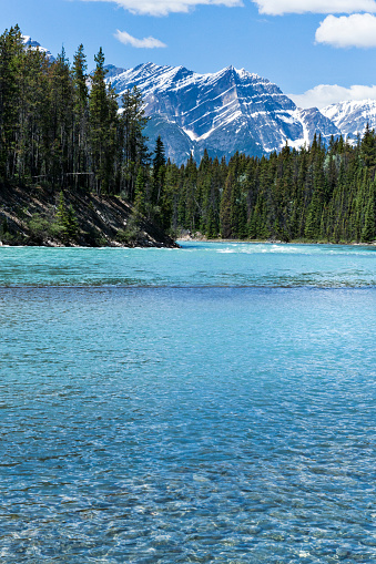 Athabasca River「Athabasca River in the Canadian Rocky Mountains of Jasper National Park, Alberta, Canada」:スマホ壁紙(10)