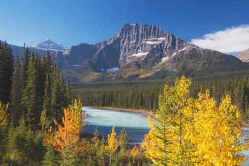 Athabasca River「Athabasca River In Autumn, Jasper National Park, Alberta, Canada」:スマホ壁紙(16)