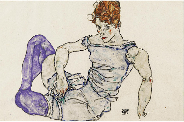 Stockings「Seated Woman In Violet Stockings 1917」:写真・画像(14)[壁紙.com]