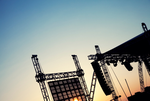 ロックミュージック「コンサートステージセット」:スマホ壁紙(15)