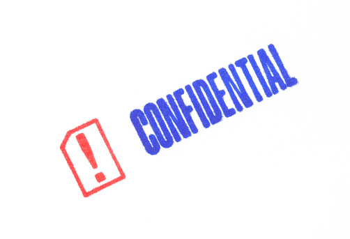 Receiving「Stamp of the word Confidential」:スマホ壁紙(6)