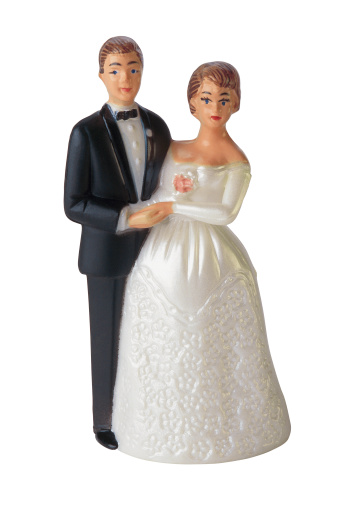 1990-1999「Bride and groom cake decoration figurines」:スマホ壁紙(1)