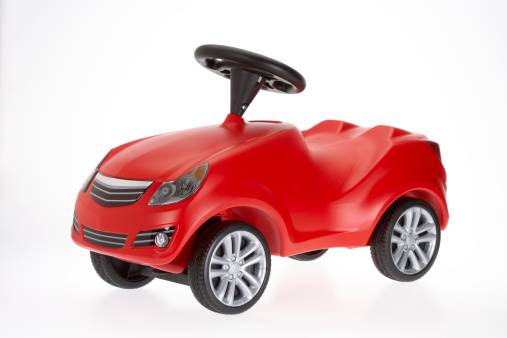 Funky「Small red toy car side view on white background」:スマホ壁紙(13)