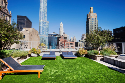City Life「Rooftop Garden in The Loop, Downtown Chicago」:スマホ壁紙(19)