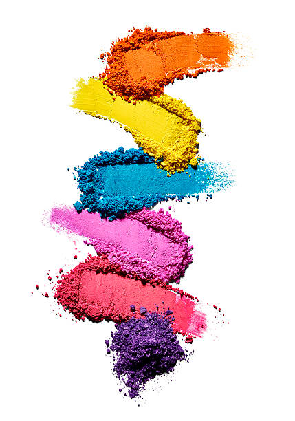 Make-up powder in different colours in front of white background:スマホ壁紙(壁紙.com)