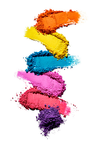 Color Image「Make-up powder in different colours in front of white background」:スマホ壁紙(6)