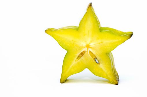 Starfruit「Five point Yellow star fruit standing up」:スマホ壁紙(2)
