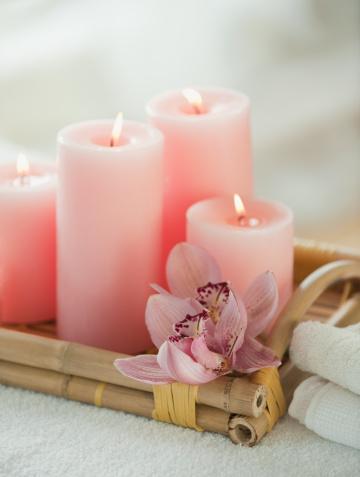Health Spa「Candle and spa elements」:スマホ壁紙(16)