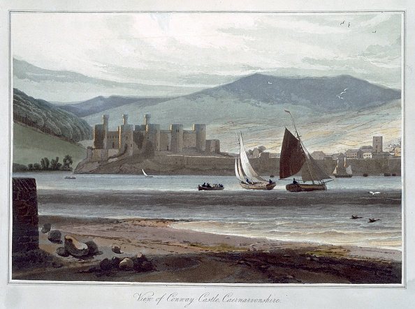 Circa 13th Century「View Of Conway Castle Caernarvonshire' Wales 1814-1825」:写真・画像(5)[壁紙.com]