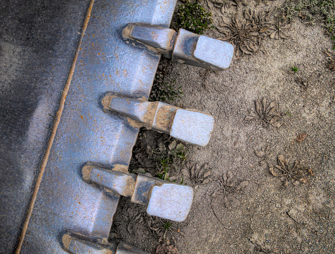 Construction Vehicle「Detail of Excavator bucket」:スマホ壁紙(14)