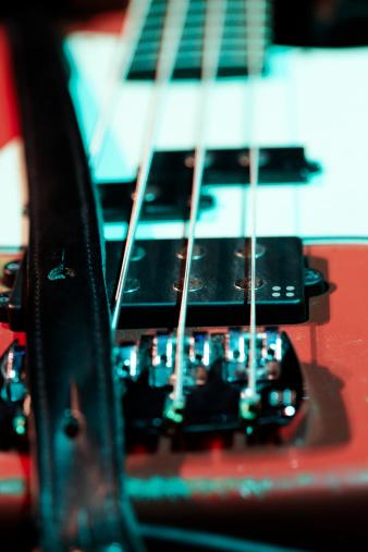 Bass Instrument「Detail of electric bass at a concert」:スマホ壁紙(19)