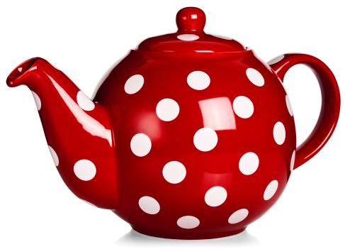 Teapot「Red tea pot with white polka-dot pattern」:スマホ壁紙(8)