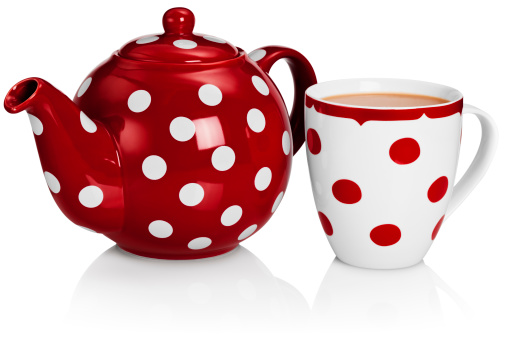 Polka Dot「Red tea pot and mug of tea」:スマホ壁紙(12)
