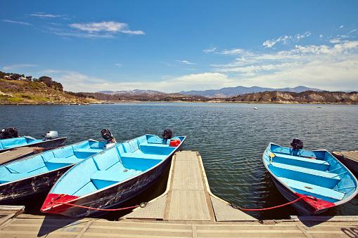 Beauty「Boats at Lake Cahuma: Santa Barbara County, California, United States」:スマホ壁紙(19)