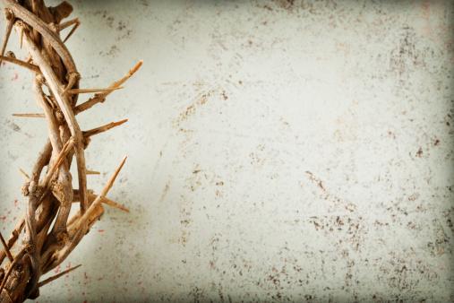 Spirituality「Crown of Thorns on Grunge Background」:スマホ壁紙(3)