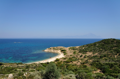 Mt Athos Monastic Republic「Wonderful private beach at Aegean sea on Sithonia, Halkidiki, Greece」:スマホ壁紙(9)