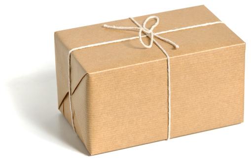 プレゼント「ブラウンくるまる小包」:スマホ壁紙(18)