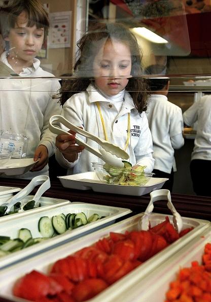 Salad「Senator Dick Durbin Tours New Healthy Lunch In Schools Program」:写真・画像(9)[壁紙.com]