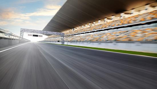 Motor Racing Track「Race track start line」:スマホ壁紙(13)