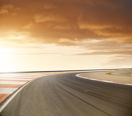 Motor Racing Track「Race Track Sunset」:スマホ壁紙(19)