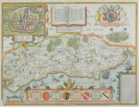 Chichester「Map of Sussex , England」:スマホ壁紙(15)